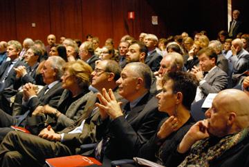 da destra: Stefano Russo, Tiziana Sartori, Mario Magagnino e Nicola Sartor, Magnifico Rettore dell'Università di Verona