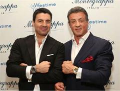 Giuseppe Aquila e Sylvester Stallone