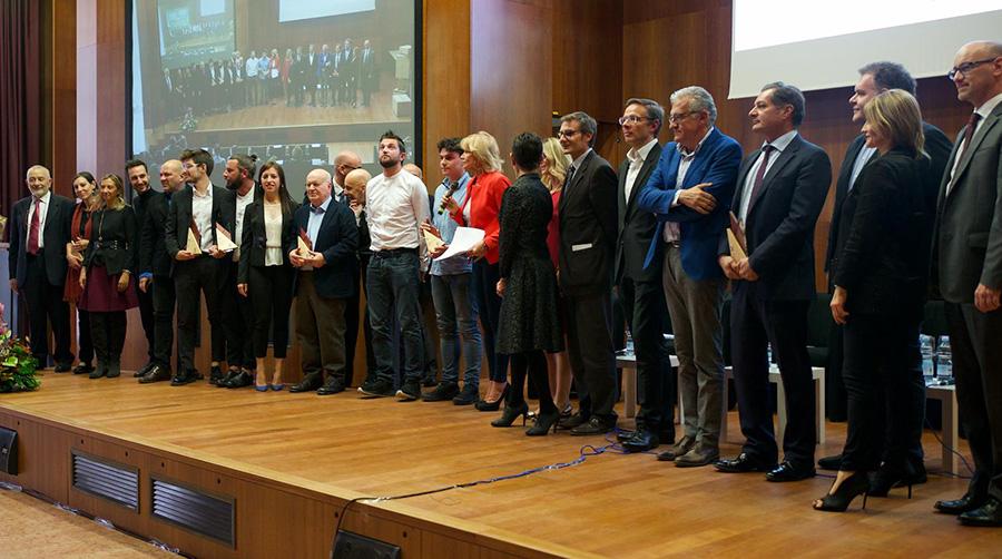 All'Università di Verona la consegna dei premi OMI 2018, sul podio:  La Sportiva, Assicurazioni Generali e VELUX Italia